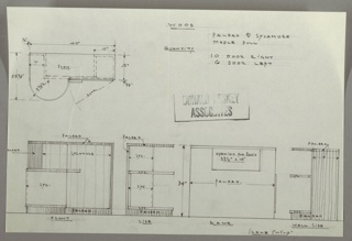 Drawing, Cabinet: Radio, Storage, Bookcase, 1930s