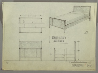 Drawing, Bed, 1930s