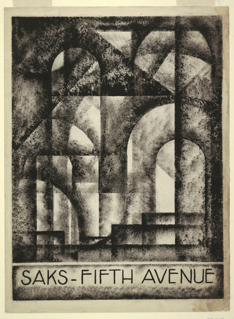 Drawing, Design for Brochure Cover, Saks Fifth Avenue, New York, NY