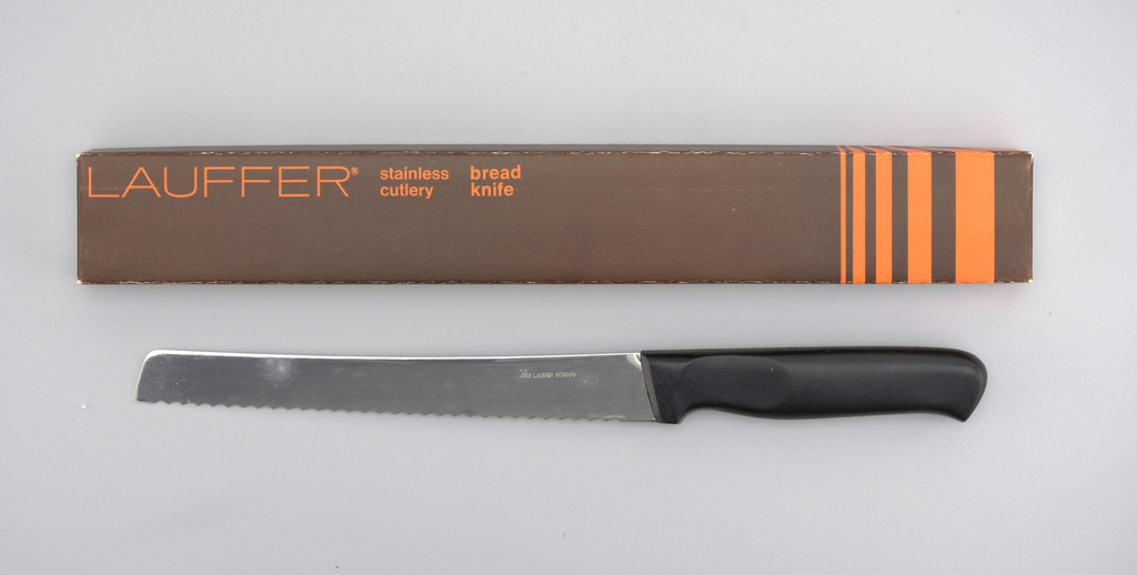 Stainless Lauffer Designs Bread Knife, mid-20th century