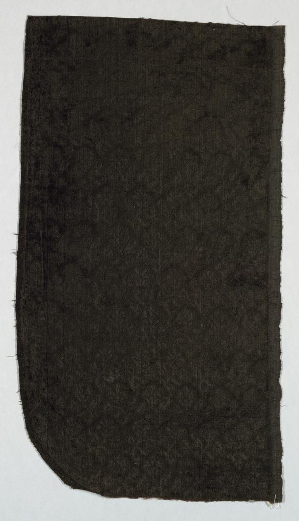 Sprig pattern on black on black velvet