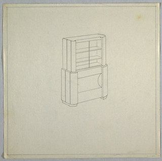 Elevation of a hutch.