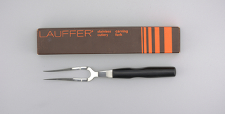 Stainless Lauffer Designs Carving Fork, mid-20th century