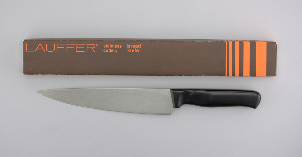 "Stainless Lauffer Designs Protoype For 8"" Chef Knife, mid-20th century"