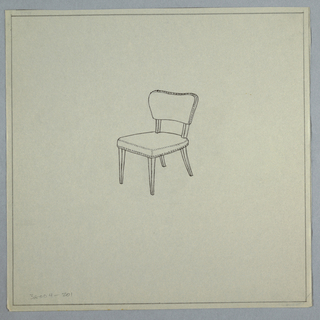 Drawing, Chair with Studs