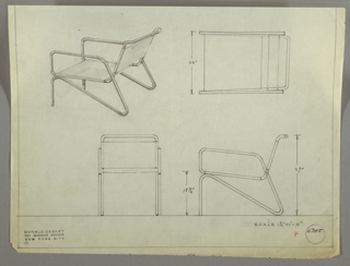 Drawing, Armchair, 1930s