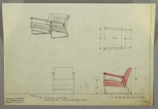 Drawing, Armchair: Upholstered, 1930s
