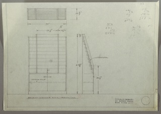 Drawing, French Line: Display Rack for Print Matter, Storage Unit, 1930s