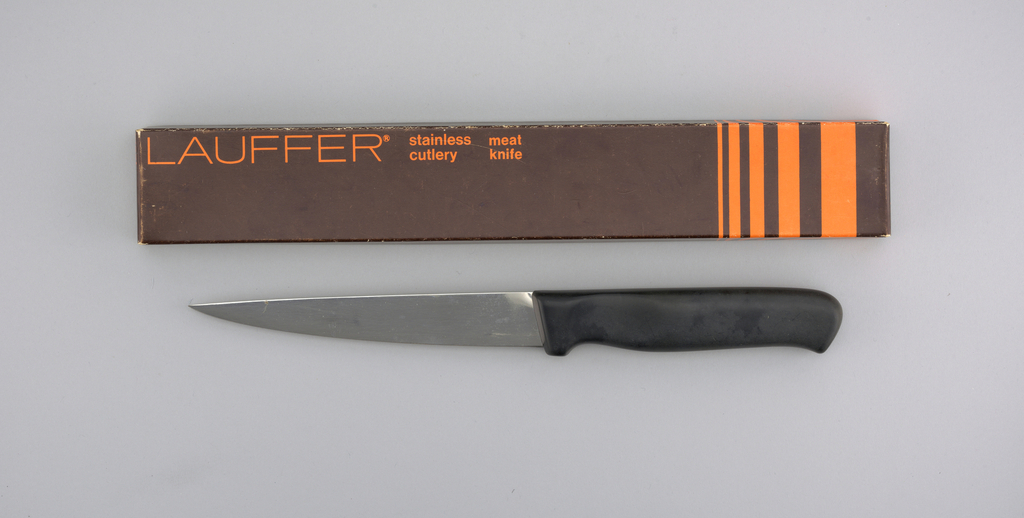 "Stainless Lauffer Designs 7"" Meat Knife, mid-20th century"
