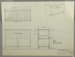 Drawing, Cabinet: Radio and Phonograph Record Storage, 1930s
