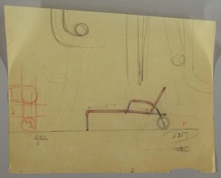 Drawing, Chaise Longue, Portable, 1930s
