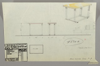 Drawing, Table, Side, 1930s
