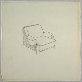 Fan armchair.
