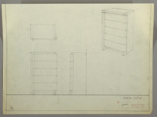 Drawing, Chest: Five Drawers, 1930s