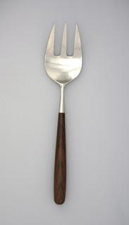 Palisander Serving Or Salad Fork, mid-20th century