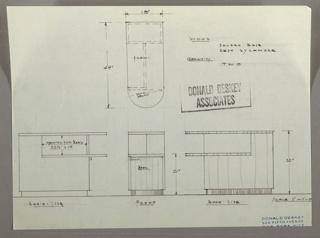 Drawing, Cabinet: Radio, Bookcase, Storage, 1930s
