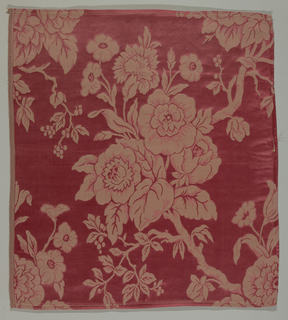 Design of flowering branches in old rose color.