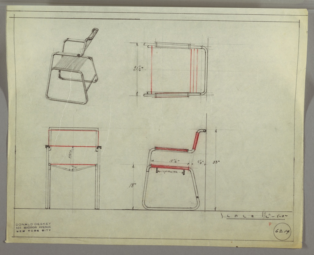 Drawing, Design for Armchair