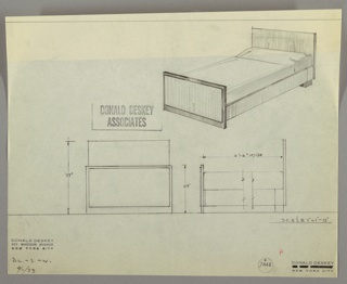 Drawing, Bed, September 1, 1933