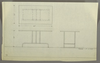 Drawing, Table, Side, 1927–31