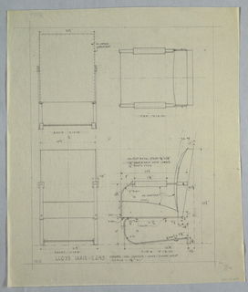 Plan and elevation of Lloyd chair.