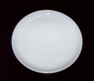 Glazed white salad plate.