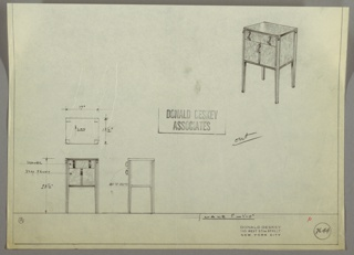 Drawing, Nighttable, 1930s