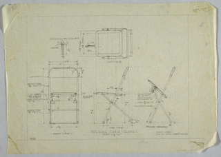Plan and elevation of folding chair.