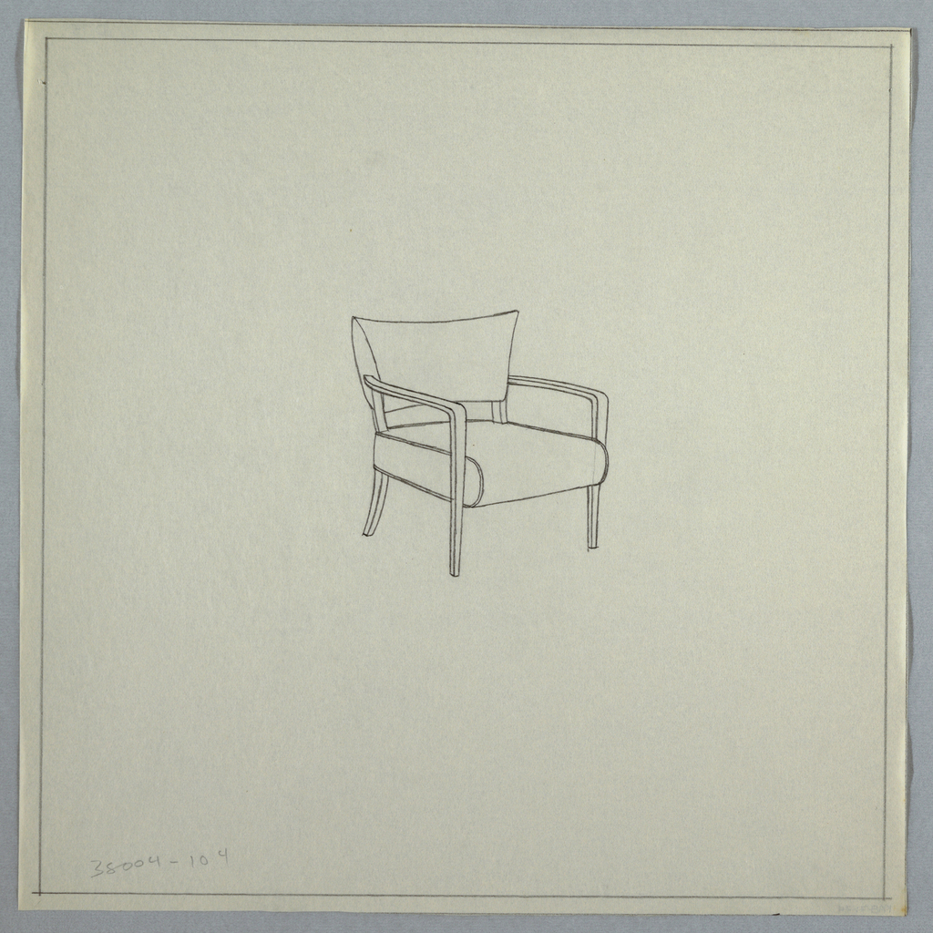 Drawing, Chair with Arms, 1940s | Objects | Collection of