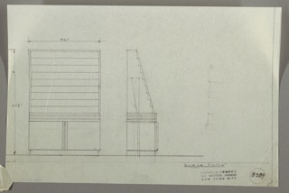 Drawing, Cabinet with Display Rack for Printed Matter, 1930s
