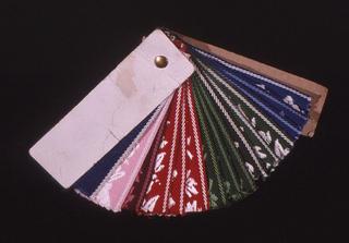 Venetian Blind Tape Sample Book (USA), ca. 1950
