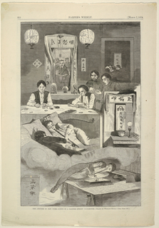 Print, The Chinese in N.Y. scene in a Baxter St. Club house, March 1874