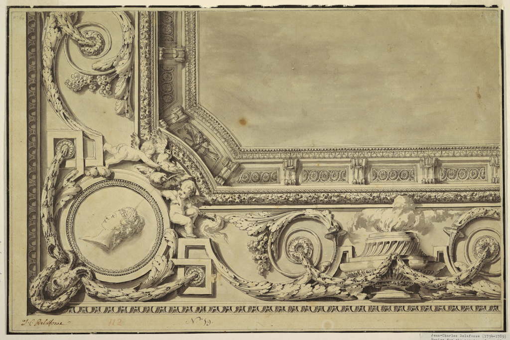 Drawing, Design for Cornice of Oblong Ceiling