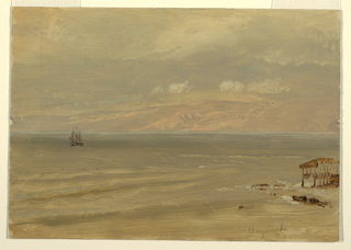 Drawing, Beyrout Bay, 1868