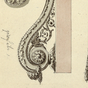Drawing, Designs for two doorknockers