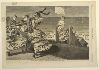 """Print, """"On the Bluff at Long Branch, at the Bathing Hour"""""""