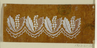 "Drawing, Design for a Woven or Embroidered Horizontal Border, of the ""Fabrique de St. Ruf"""
