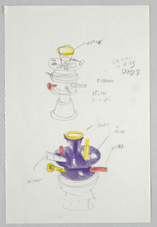 Drawing, Designs for Hot Water Pots or Fondue Pots