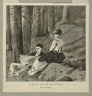 Print, A Quiet Day in the Woods, 1870
