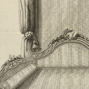 Print, Design for a Canopy Bed in the Turkish Style with Alternate Suggestion in the Italian Style