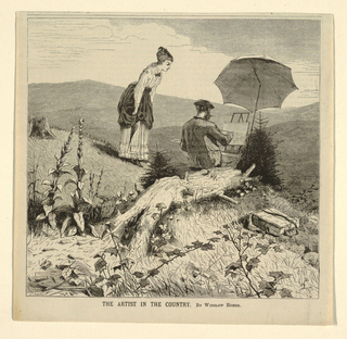Print, The Artist in the Country, from Appletons' Journal of Literature, Science and Art, June 19, 1869, Cover