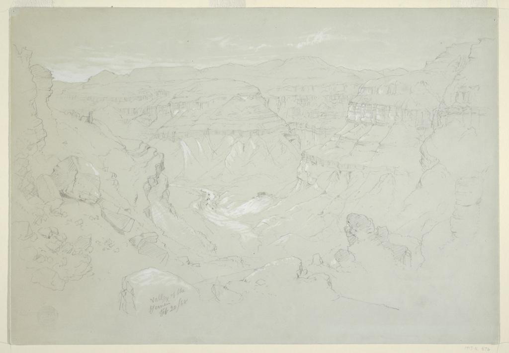 Drawing, Valley of El Yemen