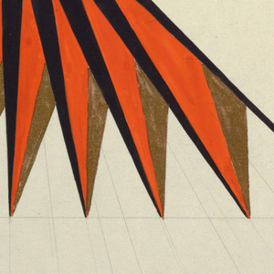 Geometric study with black and orange.