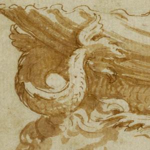Drawing, Design for a Saltcellar