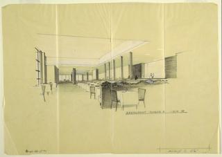 Design for interior of restaurant.