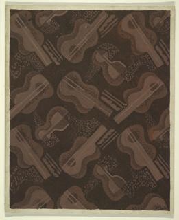Drawing, Design for Carpet, Mezzanine and Second-Floor Restaurant, International Casino Stairway, 1530 Broadway, New York, NY