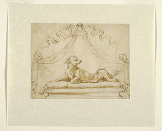 Drawing, Design for Memorial to a Dog