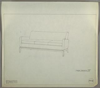 Drawing, Sofa