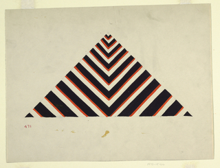 Triangular study in black and red.
