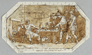 Drawing, Fabrizio Refusing the Gifts of his Enemies, ca. 1808